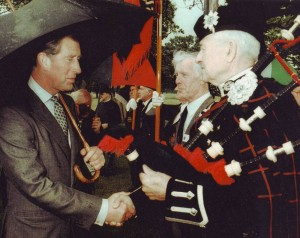 Royal Bagpiper Johnny Haynes