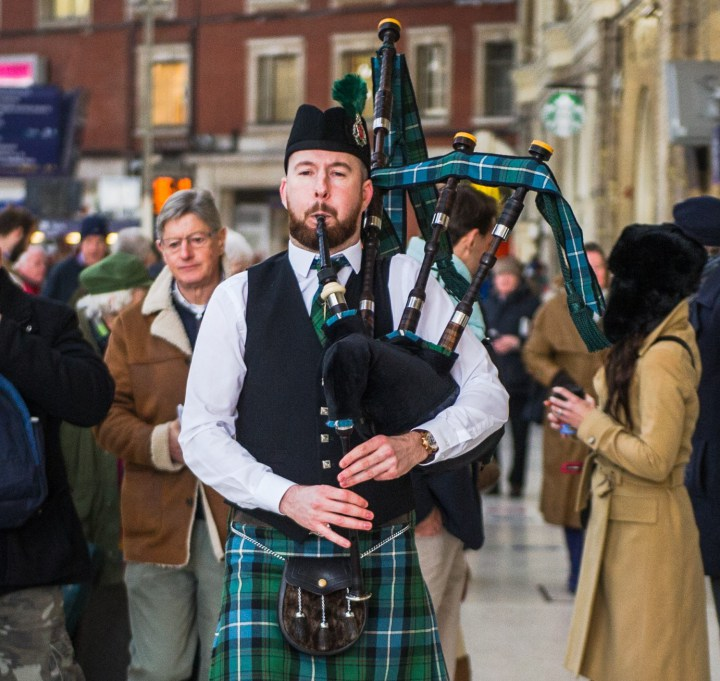 Cambridge Bagpiper