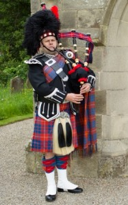 Yorkshire and Durham bagpiper